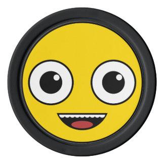 Super glückliches Gesicht Poker Chip Set