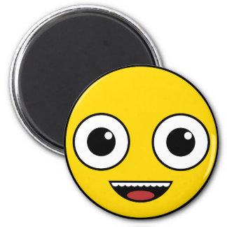Super glückliches Gesicht Runder Magnet 5,1 Cm