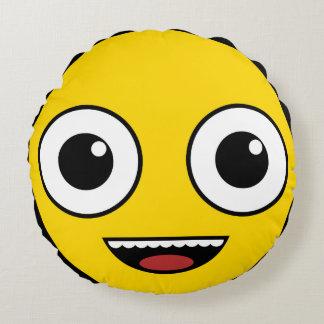 Super glückliches Gesicht Rundes Kissen