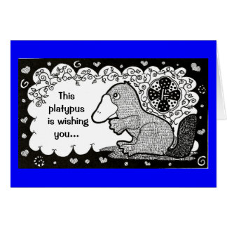 Super-gut Platypus Vatertagskarte Karte