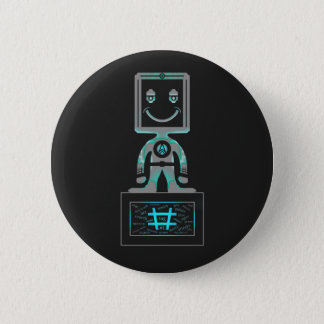 #Super Held Runder Button 5,1 Cm