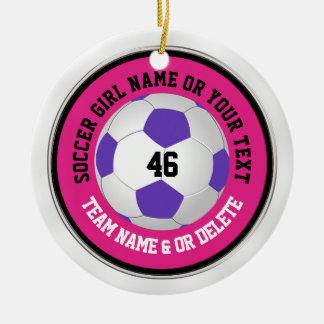 Super niedliche rosa Fußball-Verzierungen mit Keramik Ornament