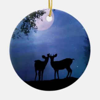 Super niedliche Rotwild-erstes Weihnachten Keramik Ornament