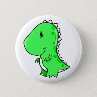 Super niedlicher kleiner Dinosaurier-Knopf Runder Button 5,7 Cm