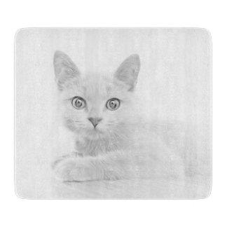 SUPER NIEDLICHES Kätzchen-Katzen-Porträt Schneidebrett