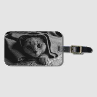 SUPER NIEDLICHES Kätzchen-Porträt Gepäckanhänger
