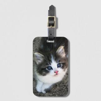 SUPER NIEDLICHES Kätzchen-Porträt Kofferanhänger