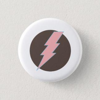 Super rosa Thunderbolt Runder Button 3,2 Cm