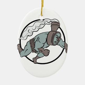 Super sich fortbewegender lochender Cartoon Keramik Ornament