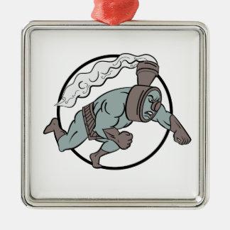 Super sich fortbewegender lochender Cartoon Silbernes Ornament