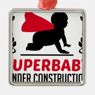 Superbaby im Bau Silbernes Ornament