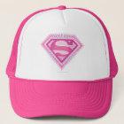 Supergirl rosa Logo Truckerkappe