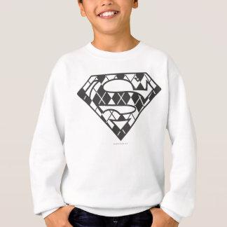 Supergirl schwarzes Rauten-Logo Sweatshirt
