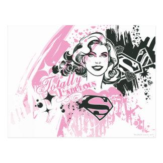 Supergirl total fabelhaft postkarte