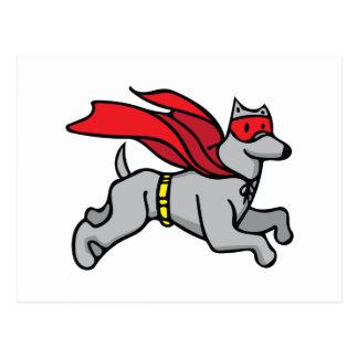 Superheld-Hund Postkarte