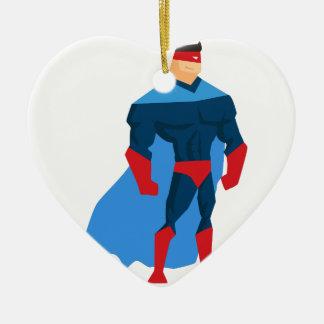 Superheld in der Aktion Keramik Ornament