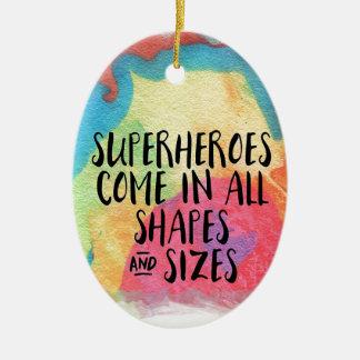 Superheld-inspirierend Ovales Keramik Ornament