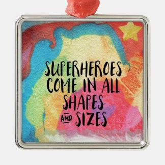 Superheld-inspirierend Silbernes Ornament