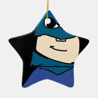 Superheld Keramik Stern-Ornament