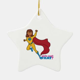 Superheld-Mädchen Keramik Stern-Ornament