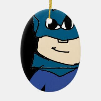 Superheld Ovales Keramik Ornament