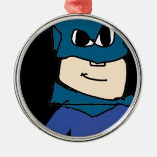 Superheld Rundes Silberfarbenes Ornament