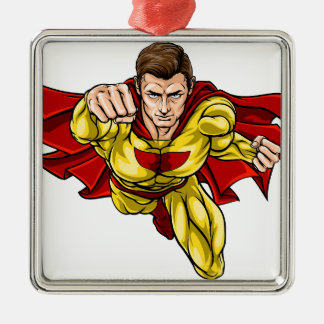 Superheld Silbernes Ornament