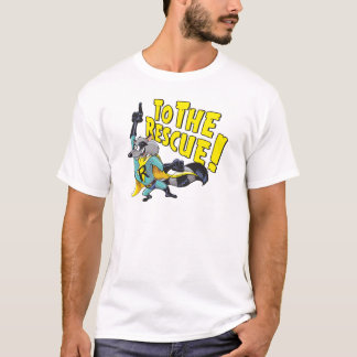 Superheld-Waschbär zur Rettung T-Shirt