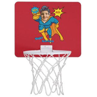 Superhero-personalisierte Aktions-Foto-Comic-Kunst Mini Basketball Ring