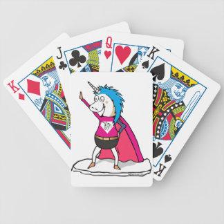 Superhero Unicorn - Einhorn Superheld Poker Karten