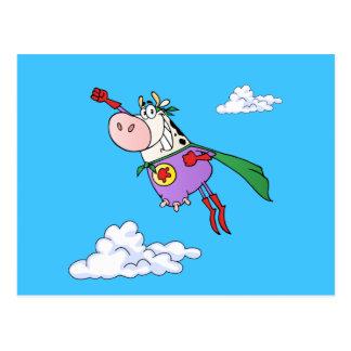 Superkuh-Cartoon Postkarte