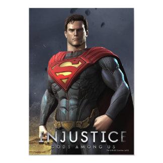 Supermann 12,7 X 17,8 Cm Einladungskarte