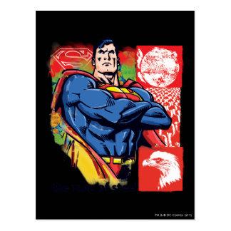 Supermann 58 postkarte