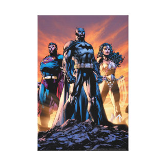 Supermann, Batman u. Wunder-Frauen-Dreiheit Leinwanddruck