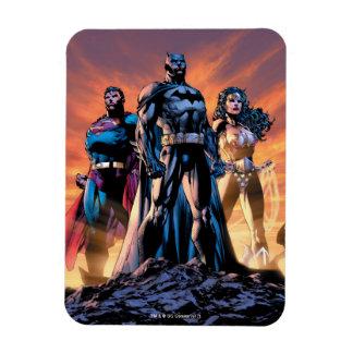Supermann, Batman u. Wunder-Frauen-Dreiheit Magnet