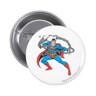 Supermann bricht Chain 2 Runder Button 5,1 Cm