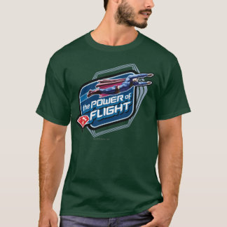 Supermann der Power des Fluges T-Shirt