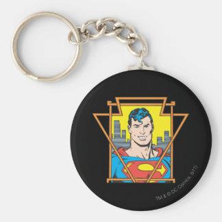 Supermann-Fehlschlag Standard Runder Schlüsselanhänger