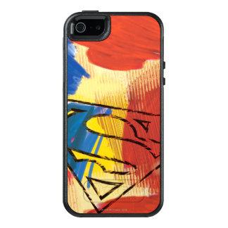 Supermann gemaltes Logo OtterBox iPhone 5/5s/SE Hülle