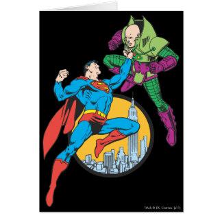 Supermann kämpft Lex Luthor Karte