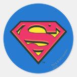 Supermann-Klassiker-Logo Runde Aufkleber