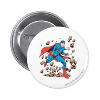 Supermann-Läufe im Schutt Runder Button 5,1 Cm