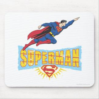 Supermann-Logo und Flug Mousepad
