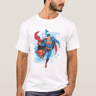 Supermann mit Logo T-Shirt