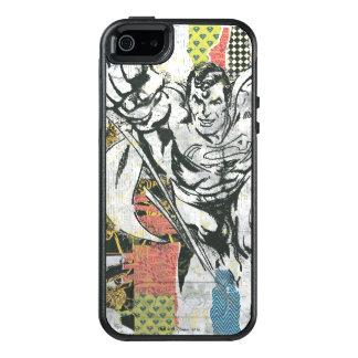 Supermann - oben steigen Collage OtterBox iPhone 5/5s/SE Hülle