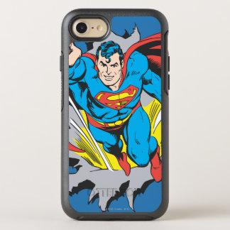 Supermann-Risse durch OtterBox Symmetry iPhone 8/7 Hülle