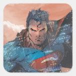 Supermann - Rot Quadrataufkleber