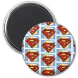 Supermann-rotes und blaues Muster Kühlschrankmagnet