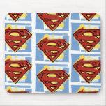 Supermann-rotes und blaues Muster Mauspad
