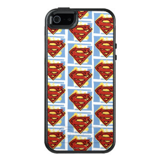 Supermann-rotes und blaues Muster OtterBox iPhone 5/5s/SE Hülle